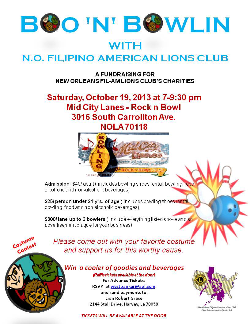 New Orleans Filipino-American Lions Club Fundraising